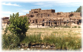 The historic and enchanting Taos Pueblo.